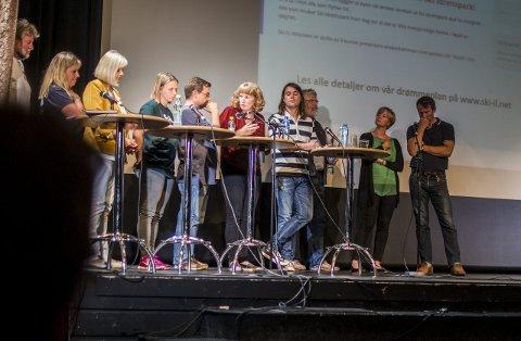 ALLE SKAL MED: Alle partier får sitte i panelet på debatten i Kolben 29. august. Her fra en debatt før forrige kommunestyrevalg i Ski.