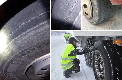 Statens vegvesen har ikke egne kontroller som sjekker dekk på personbiler, men kommer likevel over slitte dekk på både tungtransport og privatbiler.