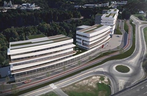 Stort område: Slik tenker SPIR arkitekter og eierne av området at det kan se ut om få år.