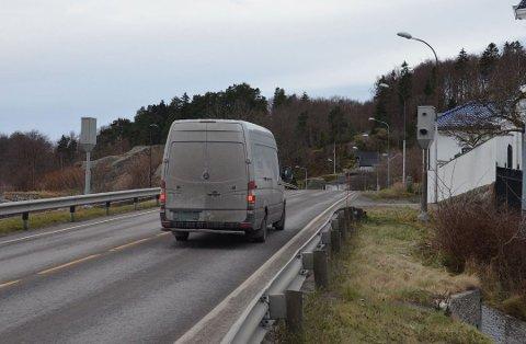 INNBRINGENDE: Denne fotoboksen ved RV 301 ved Langestrand i Larvik er effektiv. (arkivfoto)