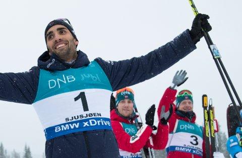 Martin Fourcade går for seiersreprise i sesongåpningen på Sjusjøen. Den franske skiskytterstjernen vant da han sist gikk løp der i 2017.