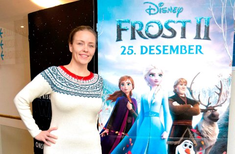 PÅ KINO: Filmen Frost 2 vises nå på kino i Norge. Christine Hals fra Elverum har rollen som dronning Idun i den norske utgaven av filmen. Hun både sang og bidro med musikk i originalversjonen av den første Frost-filmen også.