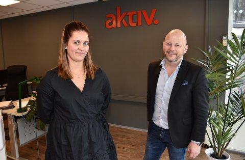 KOLLEGER OG PARTNERE: Marielle Skybakmoen og Espen Strøm står bak nyetablerte Aktiv Eiendomsmegling Solør AS.
