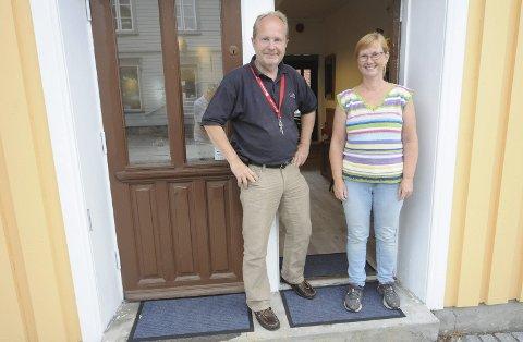 Klare til åpning: Fredag åpner Dag Yngland og Ann-Karin Hopen Langesund Landhandel i de gamle bakeri-lokalene i Torvet 14 førstkommende fredag. De gleder seg til å skape liv i lokalene igjen.