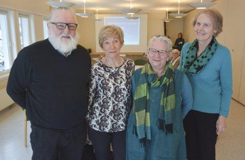 Anton Smith, Inger Lise Nordgård, Ann Elise Holmberg og Torgunn Elstrøm Sørensen var alle sirkelledere i de første gruppene som har gjennomført Lyst på livet i Bamble kommune. De fikk alle ros av deltakerne for måten de har vært pådrivere siden september.
