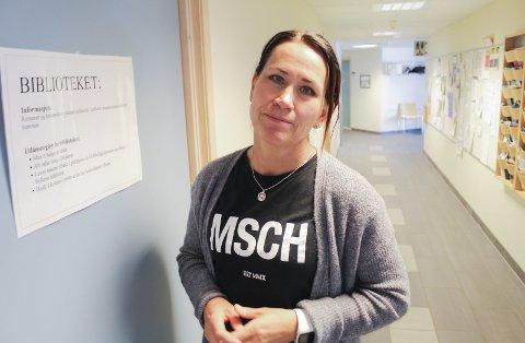 Trenger flere p-plasser: Virksomhetsleder ved Borgehaven, Bente Aasoldsen, sier at de har behov for flere parkeringsplasser. Denne uken informerte hun brukerrådet om situasjonen.