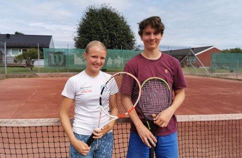TALENTER: Tilde Eliasson (17) og Jonas Bakerød Hamsdokka (18) gleder seg til endelig å spille en skikkelig turnering igjen. I NM håper de å slå skikkelig fra seg.