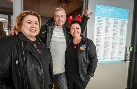 Wenche Bakken har vært helt avhengig av Per Rasmussen og Hilde Karin Skreslett under Vinterlysfestivalen.