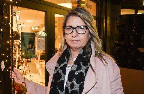Kristin Haaland er koordinator i en gruppe som skal se nærmere på hvordan handelsbransjen lokalt best kan komme seg gjennom koronakrisen. Bildet er tatt ved en tidligere anledning.