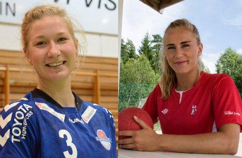 VM-KLARE: Marielle Martinsen og Elisabeth Hammerstad fra Hønefoss er med i Norges tropp til strandhåndball-VM i Russland. Duoen håper å ha med medalje når de kommer hjem igjen.