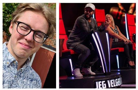 STEMME-KONKURRANSE: Daniel Syversen Granum skal synge på TV foran kritiske dommere i en ny sesong av «The Voice». Studiobildet er fra en tidligere sesong.