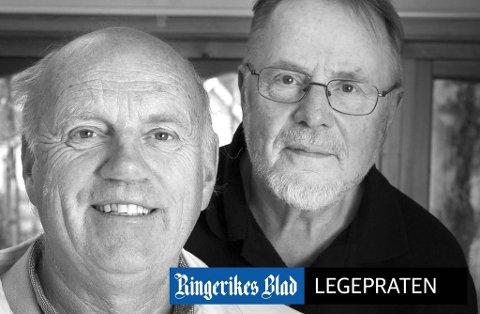 LEGEPRATEN: Fastlege Steffen Steffensrud og pensjonert journalist Anders Skrataas står bak denne faste spalten i Ringerikes Blad.
