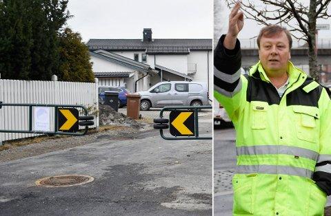 STENGT: Det er ikke lenger mulig å svinge inn Grensegata fra Hønengata - eller å kjøre fra Parkgata ut i Hønengata.