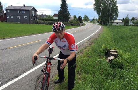 JUBILERER: Arne Blakkisrud fra Nannestad sykler Trondheim-Oslo for 50. gang denne helga. Han utelukker ikke at det blir flere.