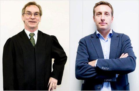 HØYEST INNTEKT: Ole Edward Hagen og Gard A. Lier var de to som hadde høyest inntekt blant advokatene på RBs liste i fjor.