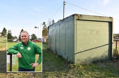 Herfra ble Enebakk IFs to sittegressklippere stjålet. - En trist slutt på en litt stusselig sommer, sier Ståle Simonsen.