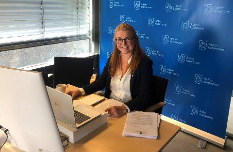 FORNØYD: Elisabeth Holter-Schøien er glad Asker fikk mulighet til å gi sine innspill til ny nasjonal plan for å redusere klimagasser i et digitalt møte med klima- og miljøministeren.