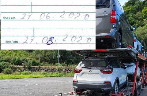 TRIKS I LUDO: Sjåføren skal ha gjort dette forsøket på å lure kontrollørene.