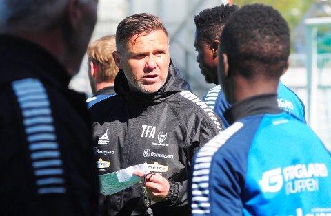 NY KAMP: Tom Freddy Aune og Sarpsborg 08 har forberedt seg godt til onsdagens cupkamp mot Tromsdalen i Tromsø.