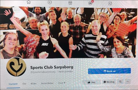 PROMOTERER: Fremskrittsparti-politiker Rune Andreassen er svært sentral i bildet som Sports Club Sarpsborg har brukt på sin Facebook-side for å promotere og reklamere for treningssenteret. Bildet ble søndag formiddag fjernet fra siden like etter at Sarpsborg Arbeiderblad hadde konfrontert Andreassen med saken.