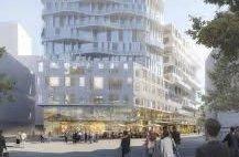 PALASS: Et av byggene nær Sandvika stasjon som er aktuelt som hovedkvarter for Viken fylkeskommune.