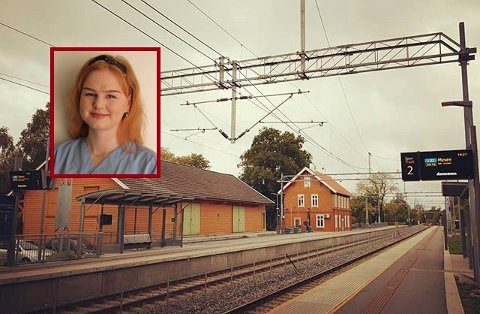 BLE STÅENDE: Ingen info var å finne på Spydeberg stasjon da toget ble innstilt. Dette opplevde Emilie Sørlie i dag.