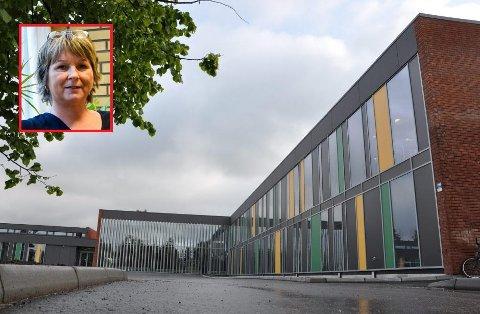 Rektor Tiina Sørensen ved Spydeberg ungdomsskole gleder seg til å ta imot de nye elevene 19. august.