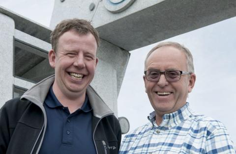 Tommy Stangeland og faren Olav Stangeland troner på topp på formuetoppen i Sola. Grunnlaget for selskapet ble lagt av far og bestefar Trygve, og familien forvalter og utvikler selskapet videre.