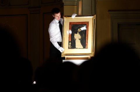 MADONNA FORSVANT: Det var dette Edvard Munch-motivet som forsvant fra kunstlageret i Oslo, og etter hvert havnet i Porsgrunn. «Madonna»-litografiet er verdt mange millioner kroner.