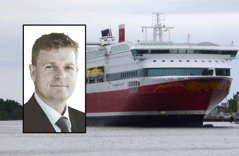 NY SJEF: Brian Thorsted Hansen (52) er utnevnt til ny konsernsjef i Fjord Line. Foto: NTB/Fjord Line