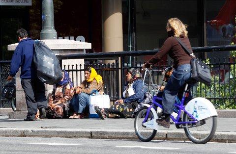Damer dropper sykkelhjelmen for ikke å ødelegge frisyren. Foto: Lise Åserud / NTB scanpix