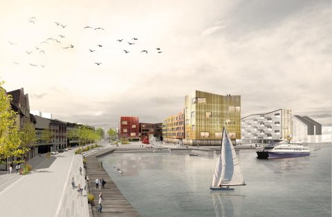 Slik kan kanskje Devoldholmen i Kristiansund se ut om noen år.
