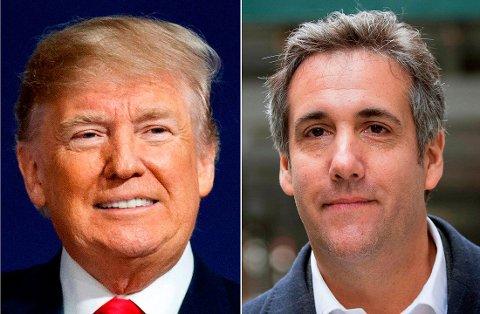 President Donald Trump og Michael Cohen samarbeidet tett i flere år, men nå er stemningen mellom dem svært dårlig. Boken endrer neppe på dette.