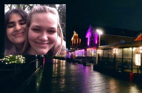GREP INN: Liv Eira (19) og Maria Olsen Bakken (19) var vitne til en voldshendelse på Brygga. Venninnene grep inn da de så at en kvinne ble sparket i hode.
