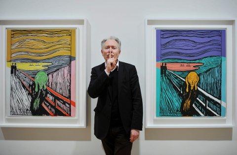 """BLIR PENSJONIST: """"Munch by Warhol"""" er bare en av mange oppsiktsvekkende utstillinger som har blitt vist på Haugar i løpet av avdelingsdirektør Jan Åke Pettersson 23 år i sjefsstolen Her. 1. september går han av med pensjon."""