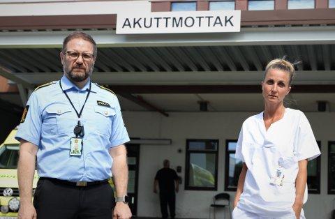 Advarer: Kenneth Rafaelsen, leder seksjon for grov vold og seksuelle overgrep ved Agder politidistrikt og Benedicte Severinsen, seksjonsleder for Overgrepsmottaket i Agder.