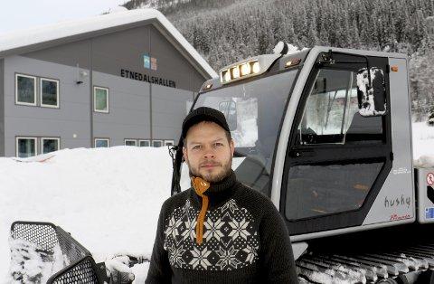 SKIPSELEKTRIKER OG LØYPEKJØRER: Øyvind Bergene kjører løyper på fritida.