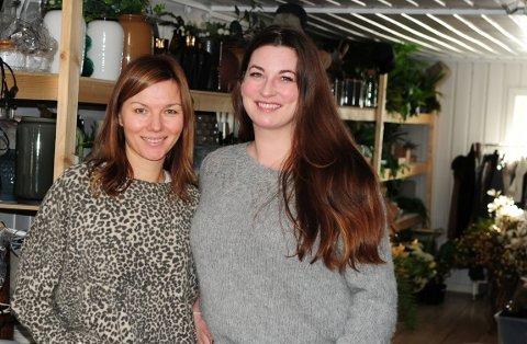 KREATIVITET OG FORRETNINGSTEFT: Lene Tuveng (t.v.) og Eva Strøm Jørgensen driver Nova boligstyling & interiørdesign, som opplever en gryende suksess.