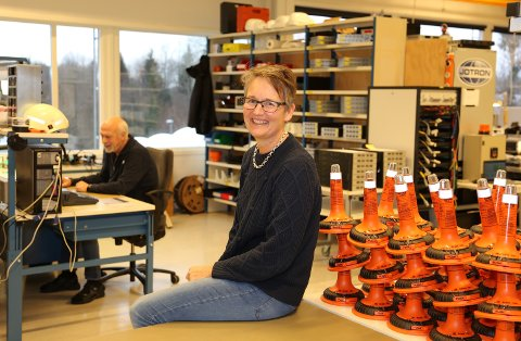 TILBAKEMELDING: Jotron-sjef Merete Berdal har ingen nyttårsforsetter, men hun jobber med å bli bedre på å gi tilbakemeldinger.