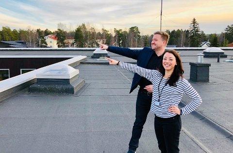 SER FREMOVER: Ordfører Truls Wickholm og miljørådgiver Pauline Johanne Kajl håper Nesodden kommune kan komme med nye og spennende løsninger gjennom det nye samarbeidet.