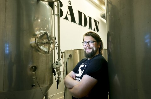 Helt sjef: Daglig leder, og brygger, Andreas Myrvold føler han får brukt absolutt alle sider av seg selv i ølbransjen.