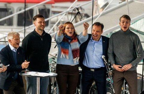 Full jubel: Ingenting å si på reaksjonen da Bodø fikk status som Europeisk kulturhovedstad i 2024.