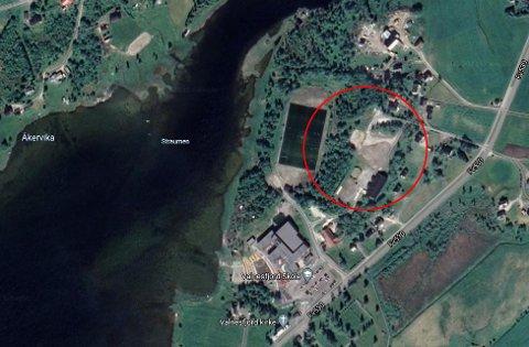 Området selges for takst. Foto: Google maps