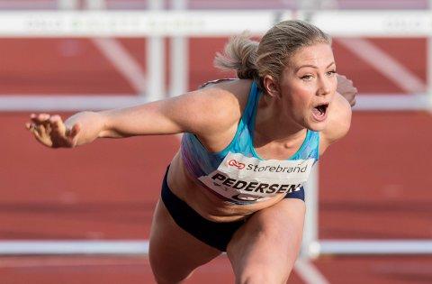 Isabelle Pedersen var bare to hundredeler bak den norske rekorden på 110 meter hekk.