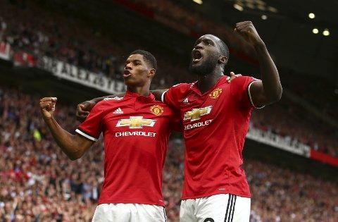 Romelu Lukaku og Marcus Rashford skal forsøke å skyte Manchester United til et nytt trofé lørdag.