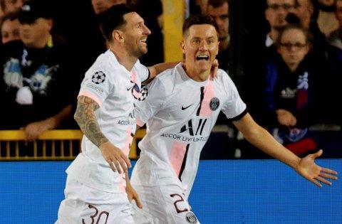 Lionel Messi (t.v.), Ander Herrera og de andre PSG-stjernene blir å se på BA,no de neste tre sesongene.