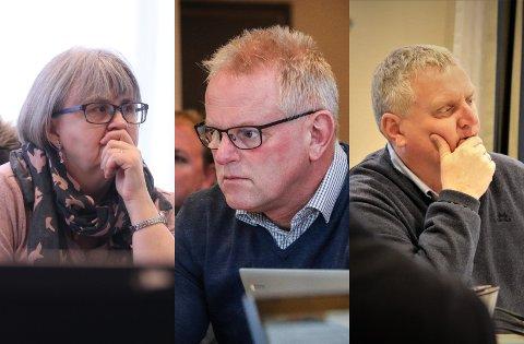 USIKKERT: Kari Johanne Melhus (Sp) forteller at partiet ikke vil legge omreguleringen på Eie ut på høring. Men Kurt Sæstad (Ap) og Kjell Vidar Nygård (H) heller mot å si ja.