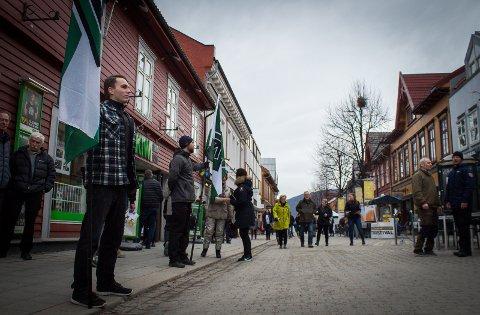 DEMONSTRASJON: Forrige uke demonstrerte den Nordiske Motstandsbevegelsen i Lillehammer.
