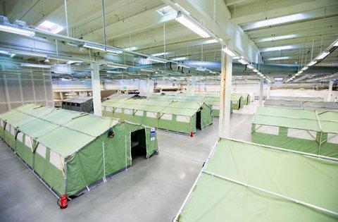 Det tidligere Smart Club-bygget ved Råde i Østfold ble under flyktningekrisen omgjort til en teltleir.