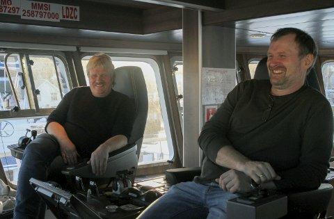 BREIVIK JUNIOR: Svein Magne og Kristian Korneliussen, har gått gradene frå liten kystsjark til den store garnbåten dei driv i dag.